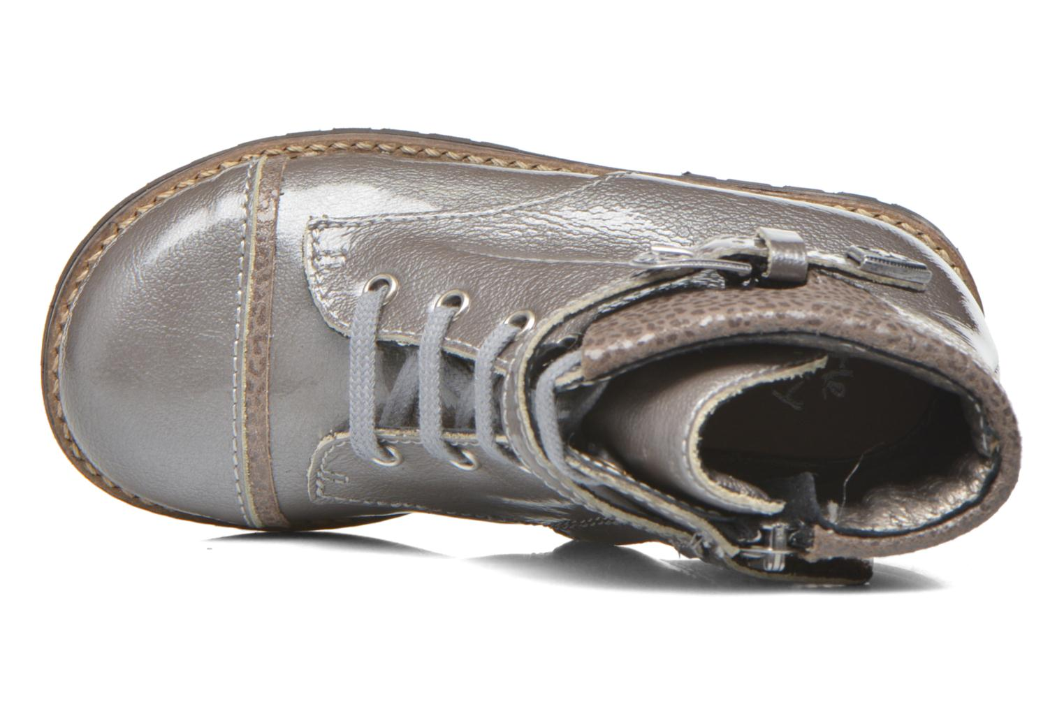 Botines  Little Mary Tresor Gris vista lateral izquierda