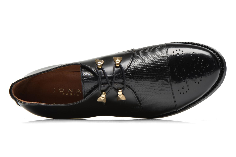 Zapatos con cordones Jonak Darby Negro vista lateral izquierda
