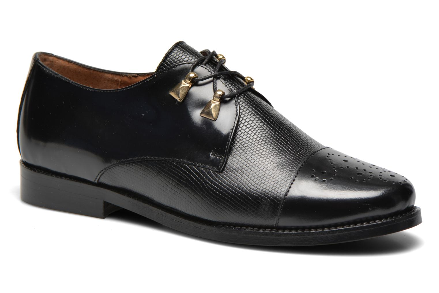 Lace-up shoes Jonak Darby Black detailed view/ Pair view