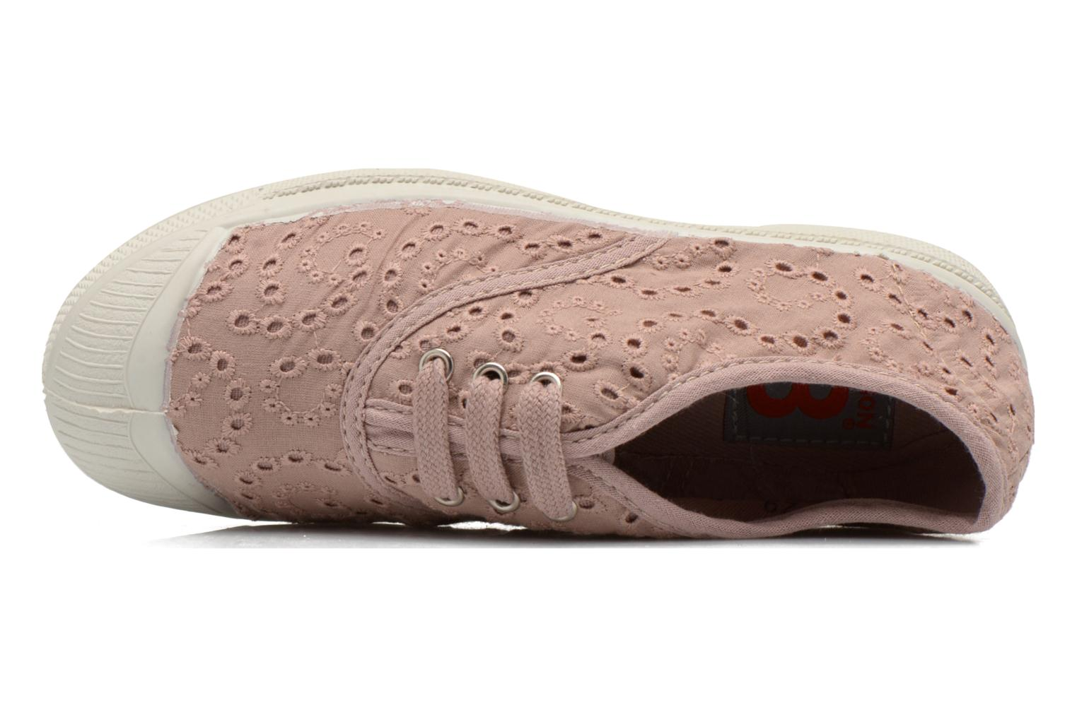 Sneakers Bensimon Tennis Broderie Anglaise E Rosa immagine sinistra