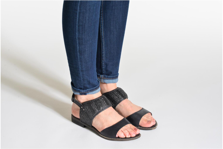 Sandales et nu-pieds Madison Rubane Blanc vue bas / vue portée sac