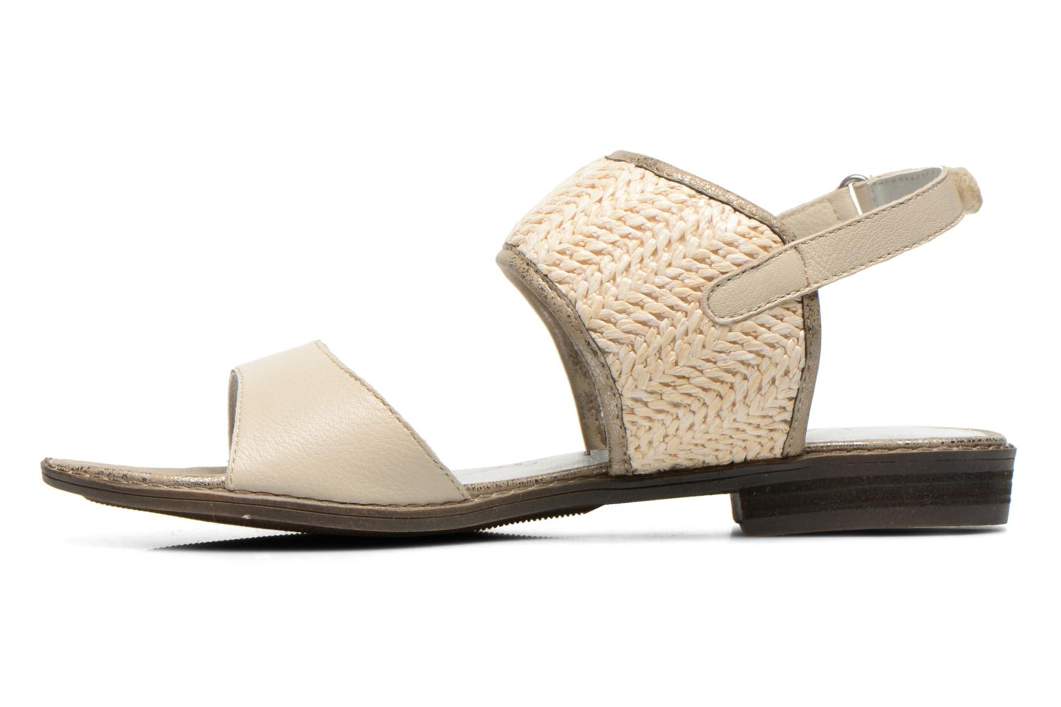 Sandals Madison Rubane White front view