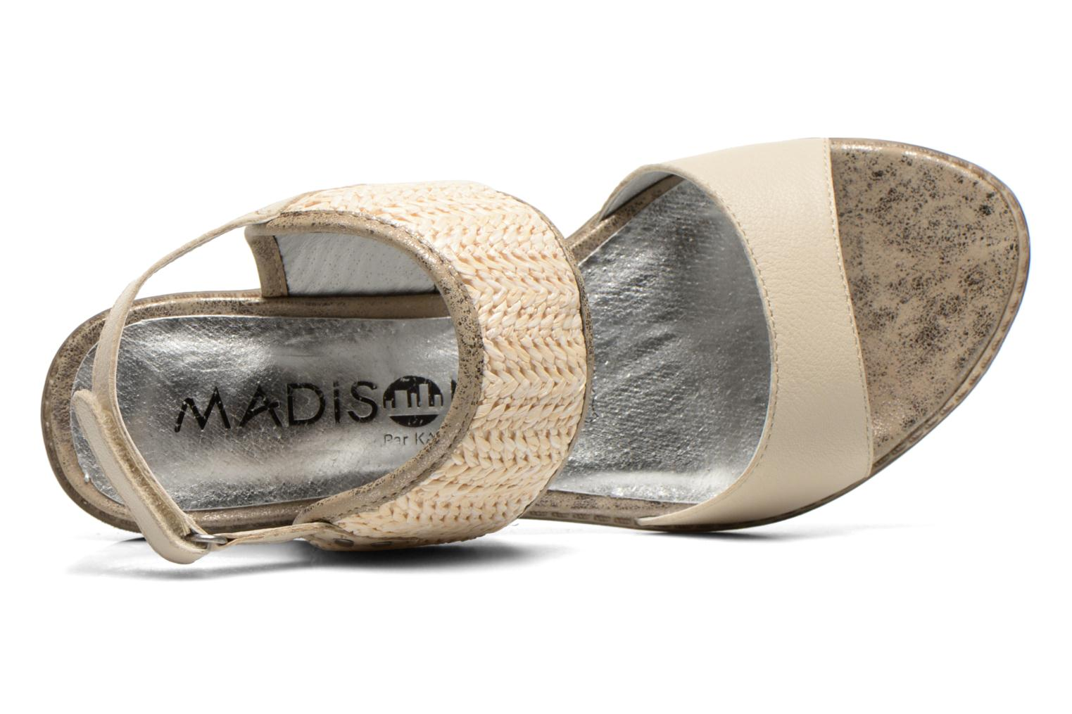 Sandals Madison Rubane White view from the left
