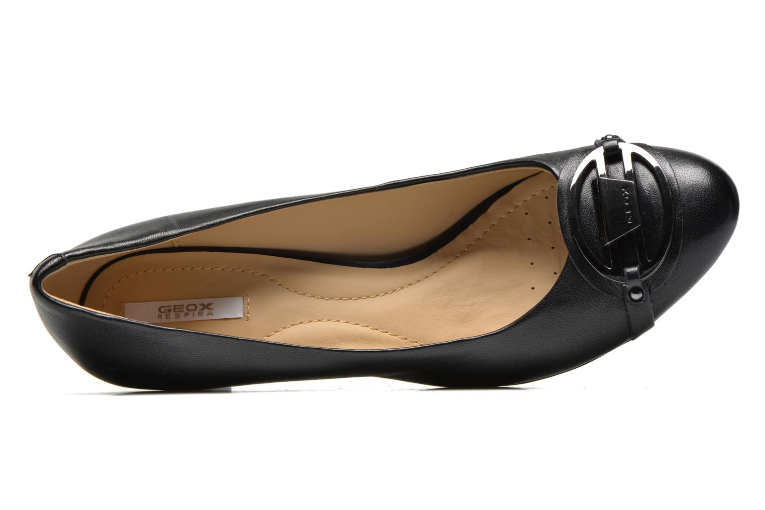 High heels Geox D Mariele Mid B D44T7B Black view from the left
