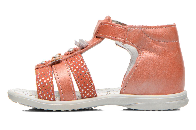 Sandales et nu-pieds Bopy Bastrid Orange vue face