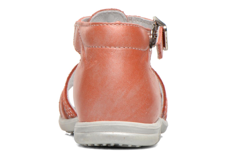 Sandales et nu-pieds Bopy Bastrid Orange vue droite