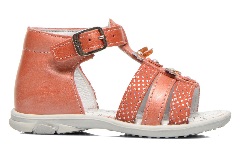 Sandales et nu-pieds Bopy Bastrid Orange vue derrière