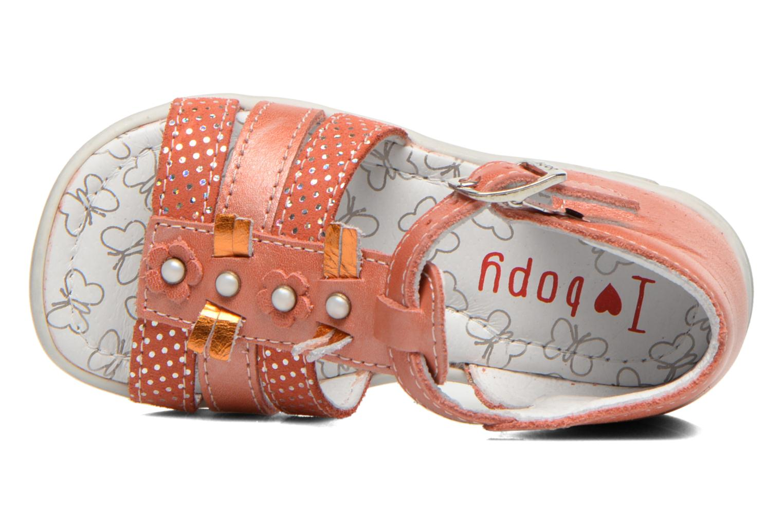 Sandales et nu-pieds Bopy Bastrid Orange vue gauche