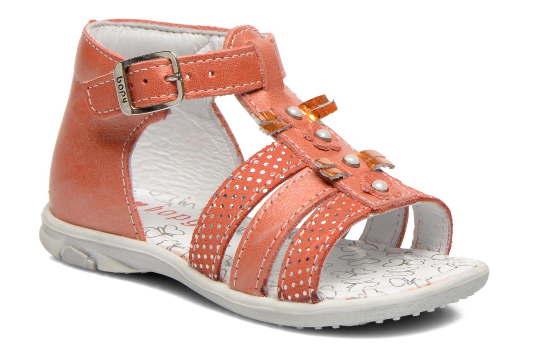 Sandales et nu-pieds Bopy Bastrid Orange vue détail/paire