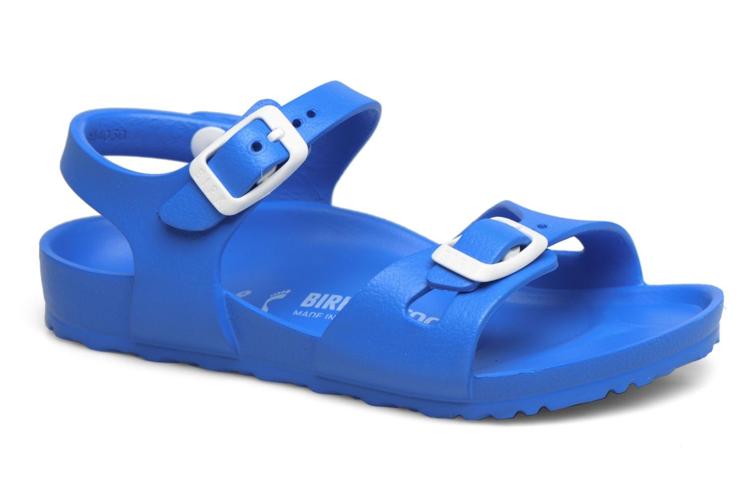Sandals Birkenstock Rio EVA Blue detailed view/ Pair view