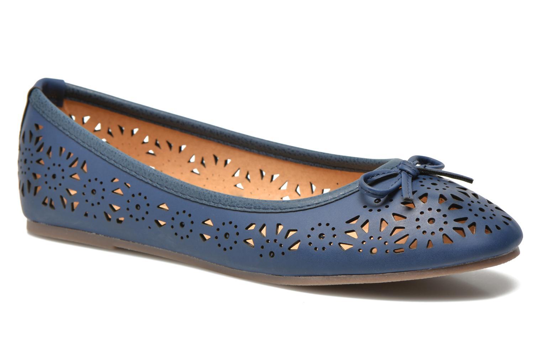 Ballerines I Love Shoes Suflatou Bleu vue détail/paire