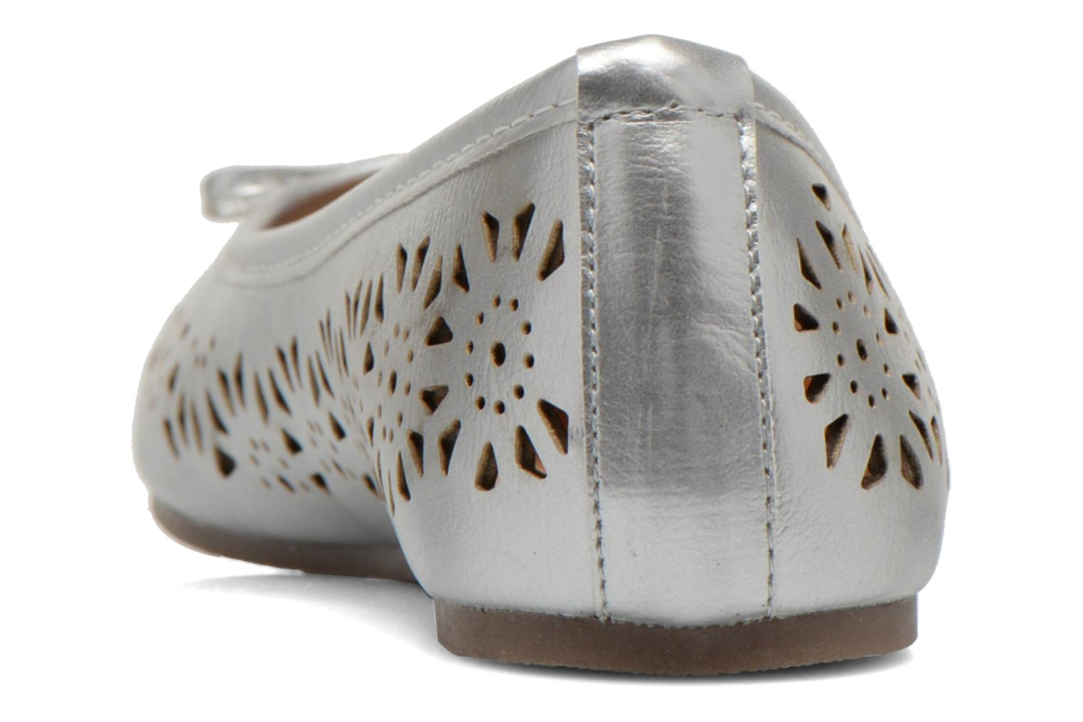 Ballet pumps I Love Shoes Suflatou Silver view from the right