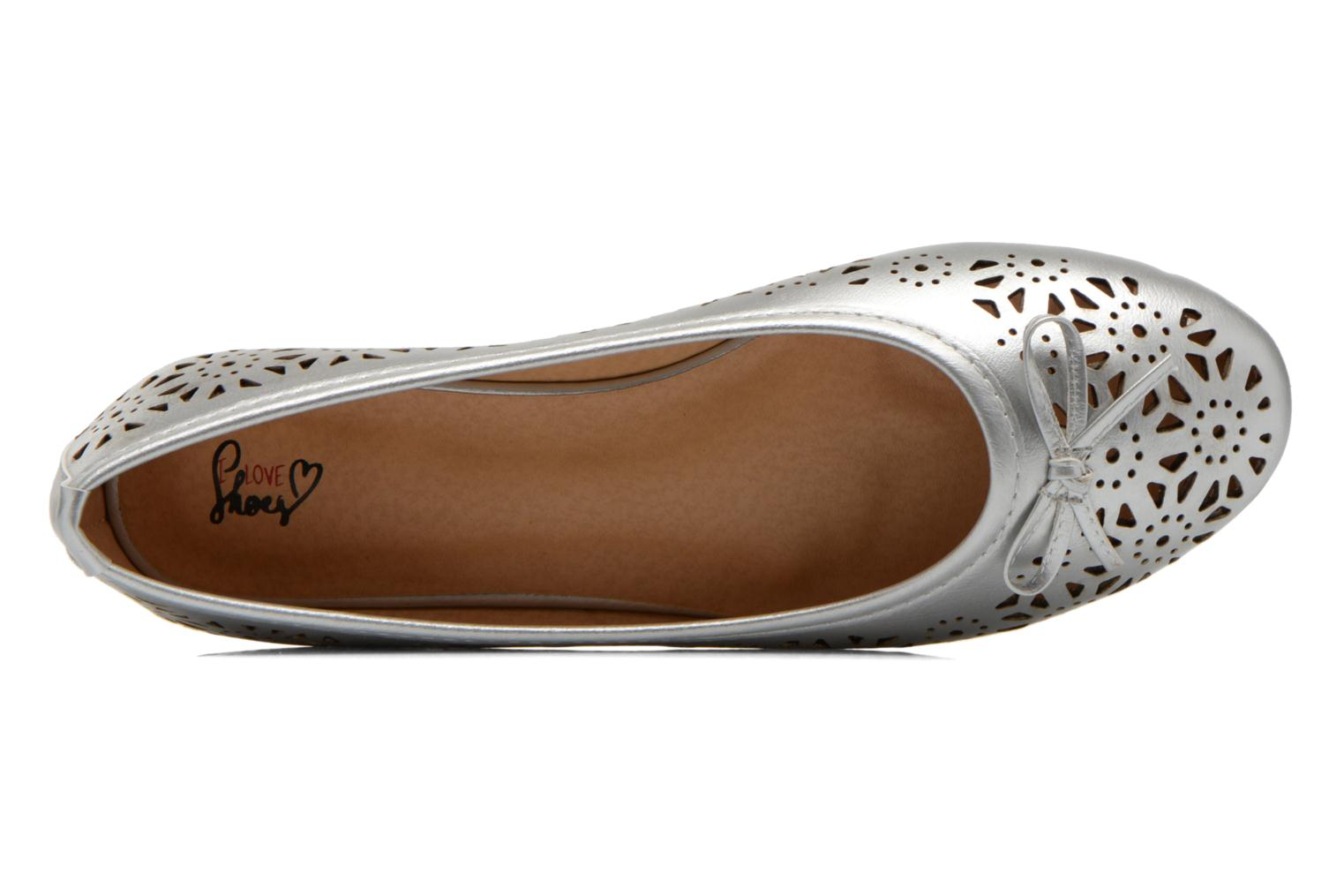 Ballet pumps I Love Shoes Suflatou Silver view from the left