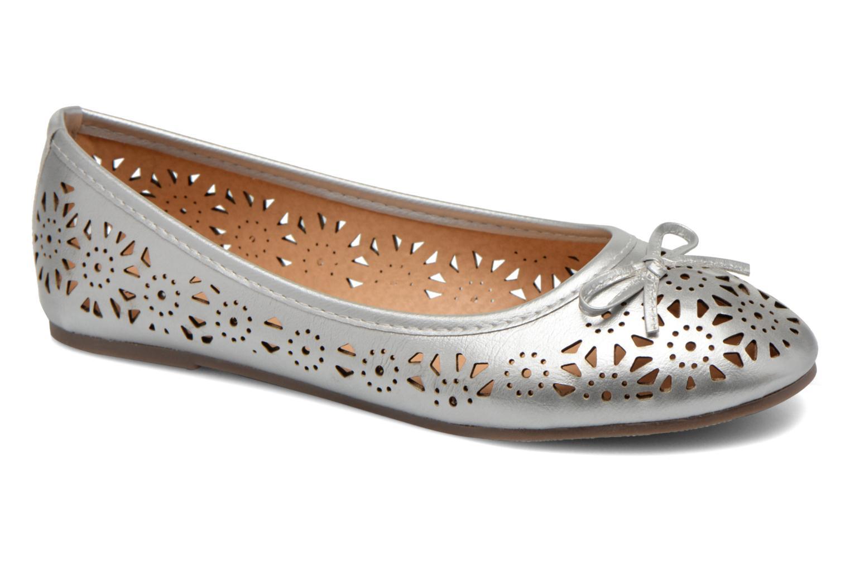 Ballet pumps I Love Shoes Suflatou Silver detailed view/ Pair view