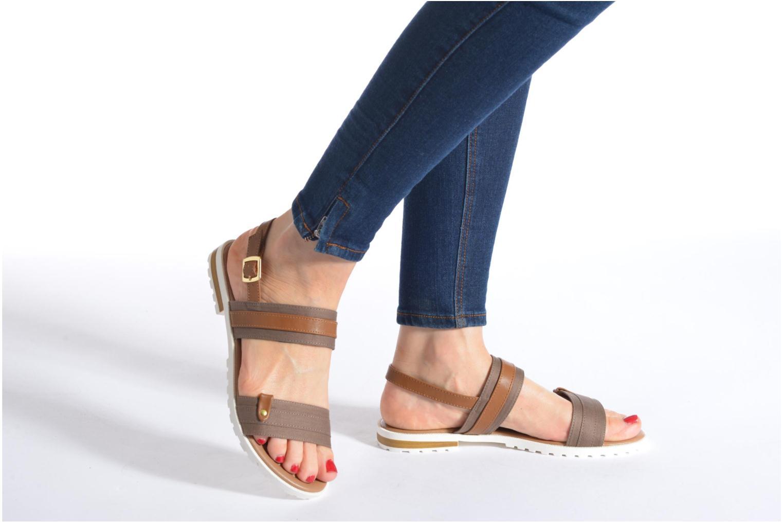 Sandales et nu-pieds I Love Shoes Subandi Bleu vue bas / vue portée sac