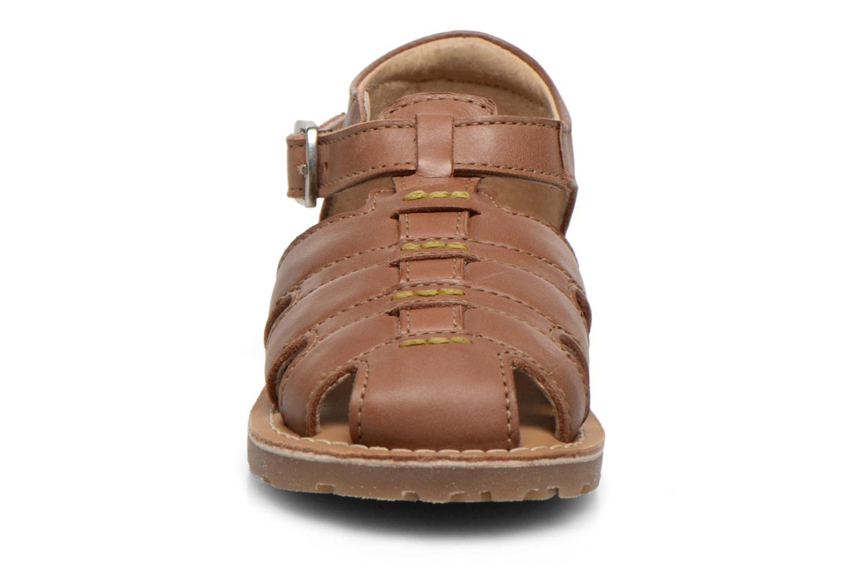 Sandales et nu-pieds Aster Ely Marron vue portées chaussures