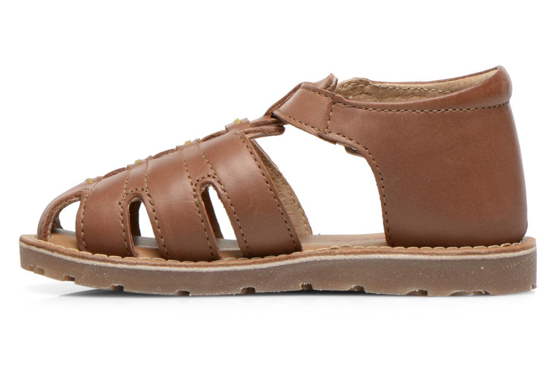 Sandales et nu-pieds Aster Ely Marron vue face