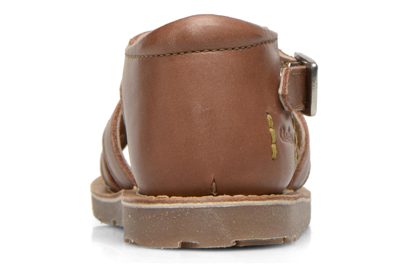 Sandales et nu-pieds Aster Ely Marron vue droite