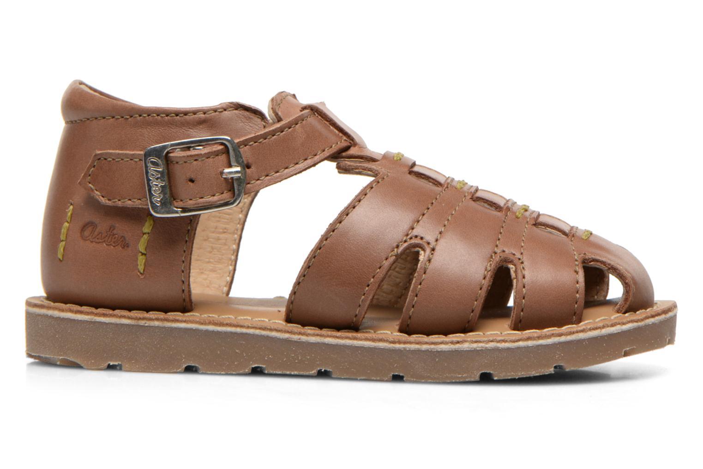 Sandales et nu-pieds Aster Ely Marron vue derrière