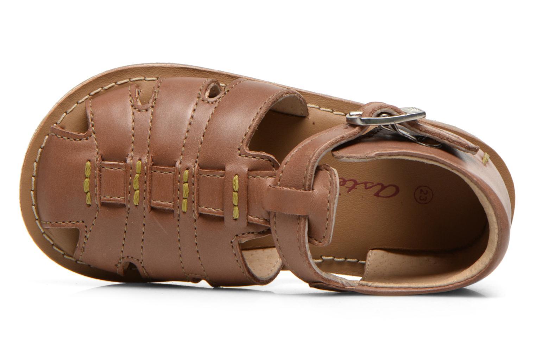 Sandales et nu-pieds Aster Ely Marron vue gauche