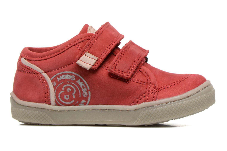 Chaussures à scratch Mod8 Virgile Rouge vue derrière