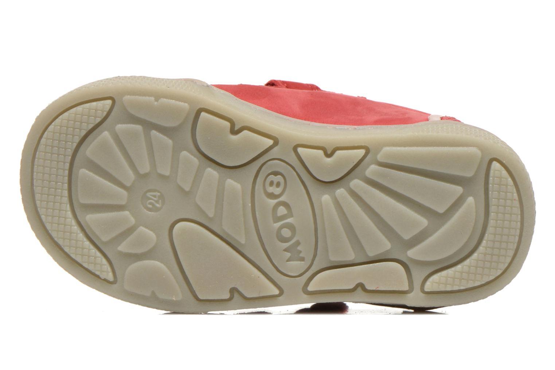 Chaussures à scratch Mod8 Virgile Rouge vue haut