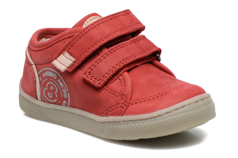 Chaussures à scratch Mod8 Virgile Rouge vue détail/paire