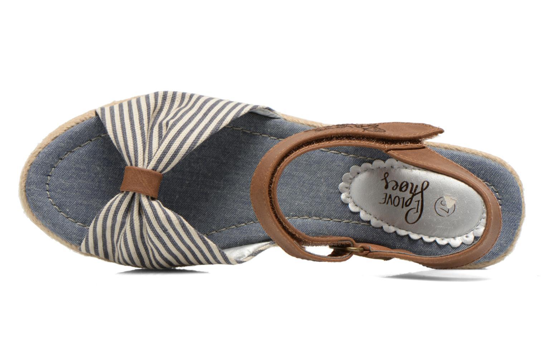 Sandalias I Love Shoes Sudrira Azul vista lateral izquierda