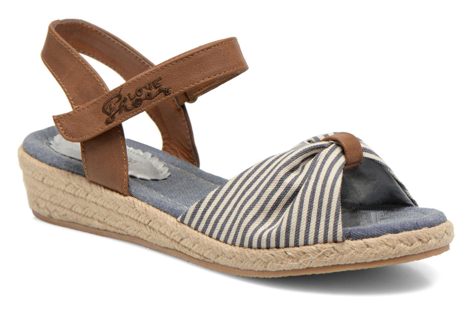 Sandals I Love Shoes Sudrira Blue detailed view/ Pair view