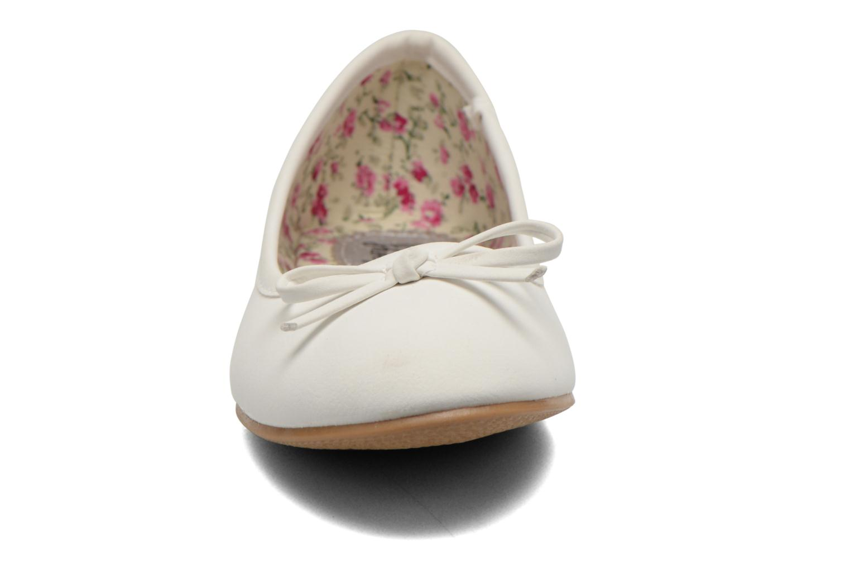 Ballerines I Love Shoes Sufllatina Blanc vue portées chaussures