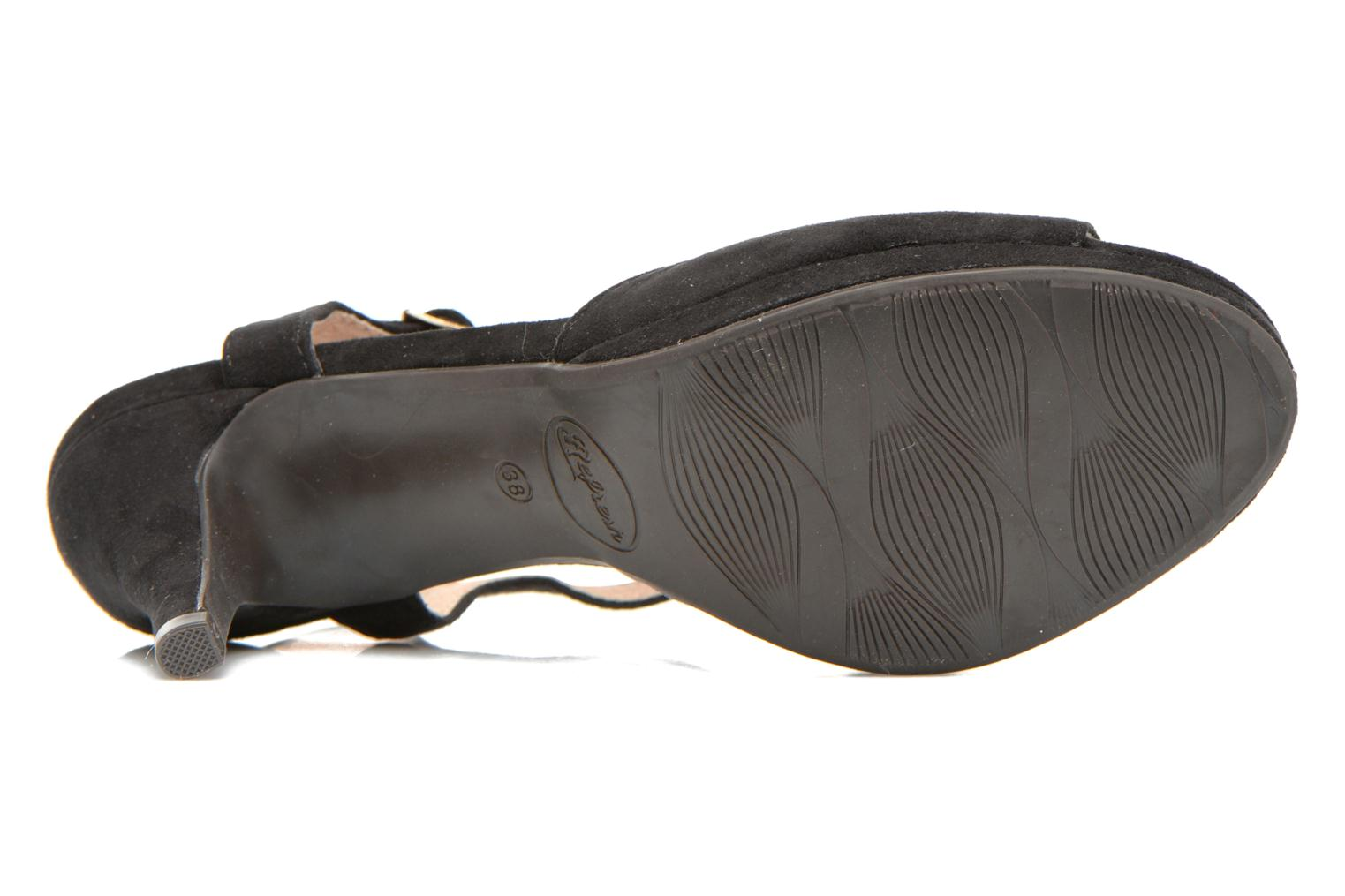 Sandals Refresh Wanita Black view from above