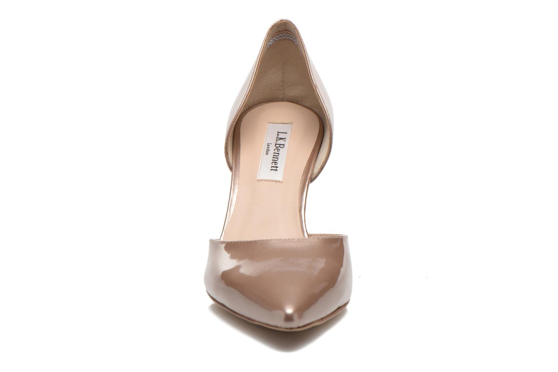 Escarpins L.K. Bennett Flossie Or et bronze vue portées chaussures