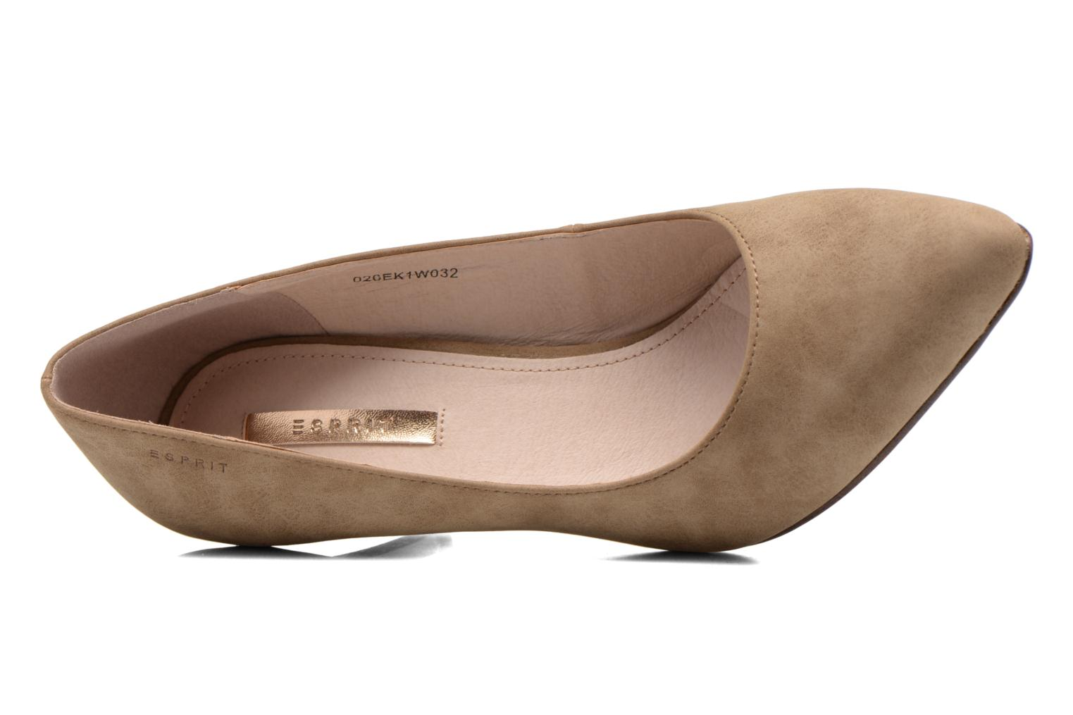 High heels Esprit Rossy Pump Brown view from the left