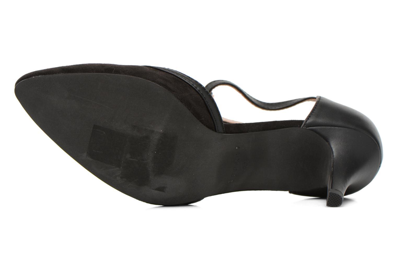 Escarpins Esprit Rossy T-Strap Noir vue haut