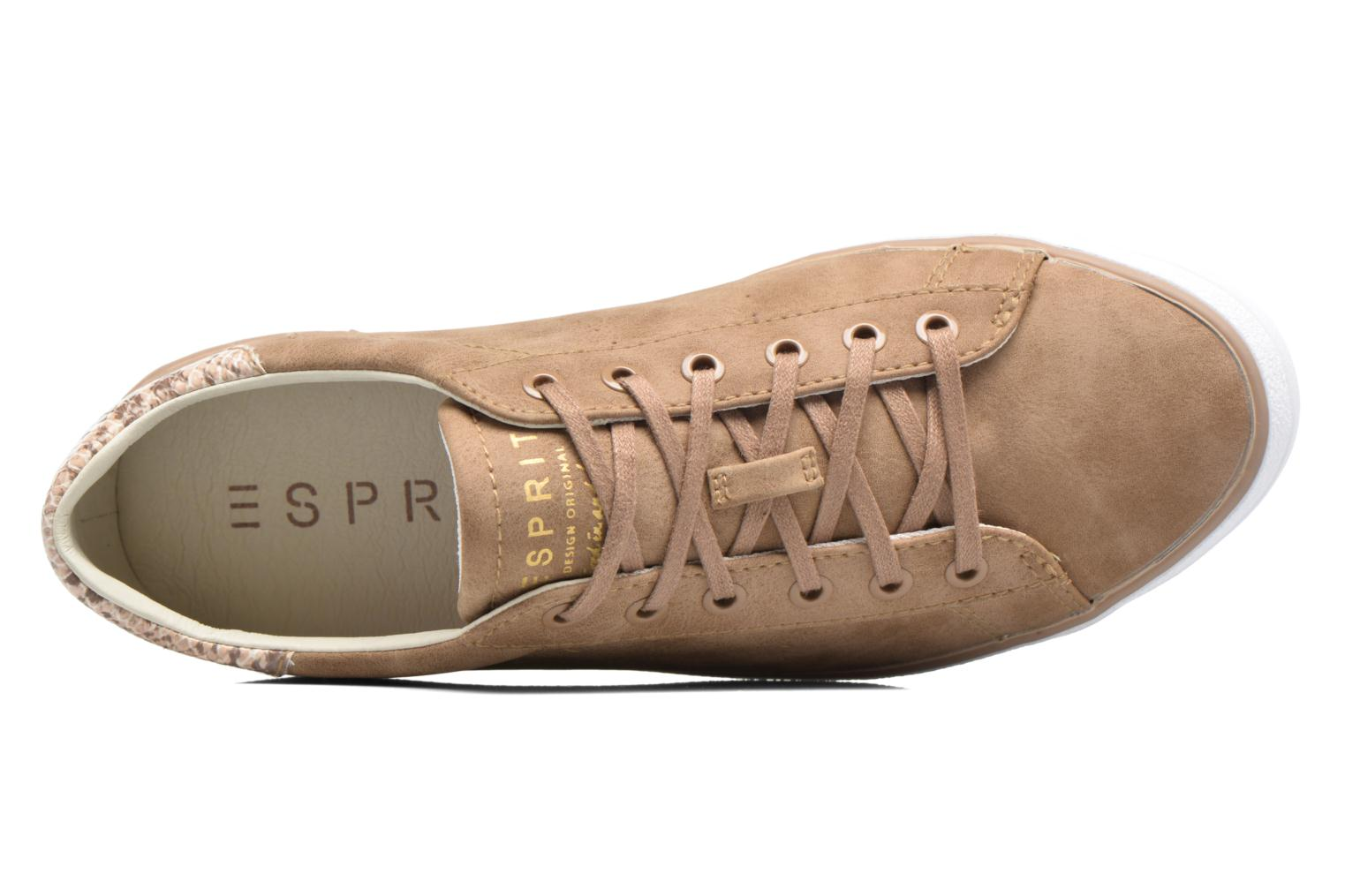 Trainers Esprit Miana Lace Up Brown view from the left