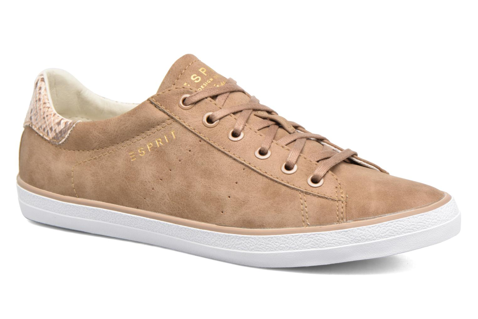 Trainers Esprit Miana Lace Up Brown detailed view/ Pair view