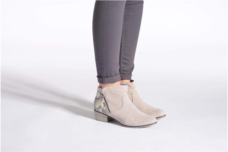 Bottines et boots Jana shoes Popy Gris vue bas / vue portée sac