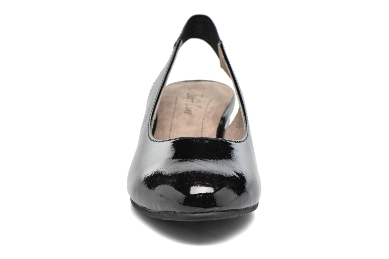 High heels Jana shoes Orina Black model view