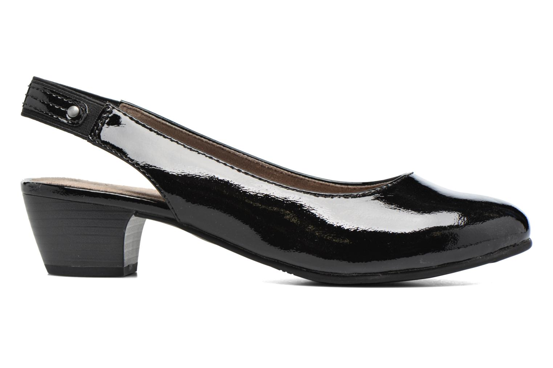 High heels Jana shoes Orina Black back view
