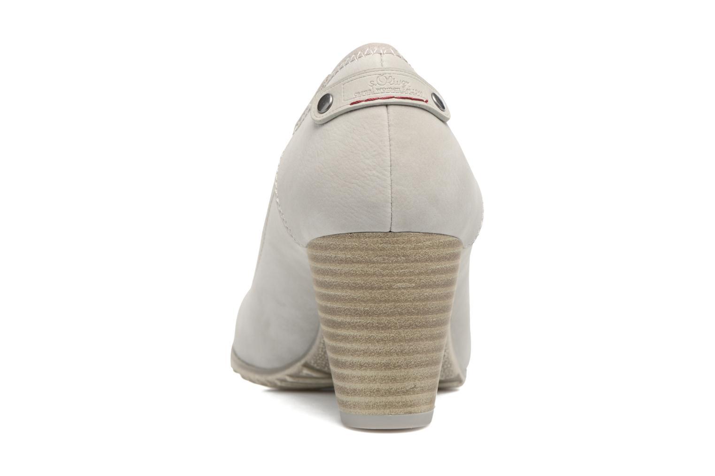 Zapatos de tacón S.Oliver Nyelle Gris vista lateral derecha