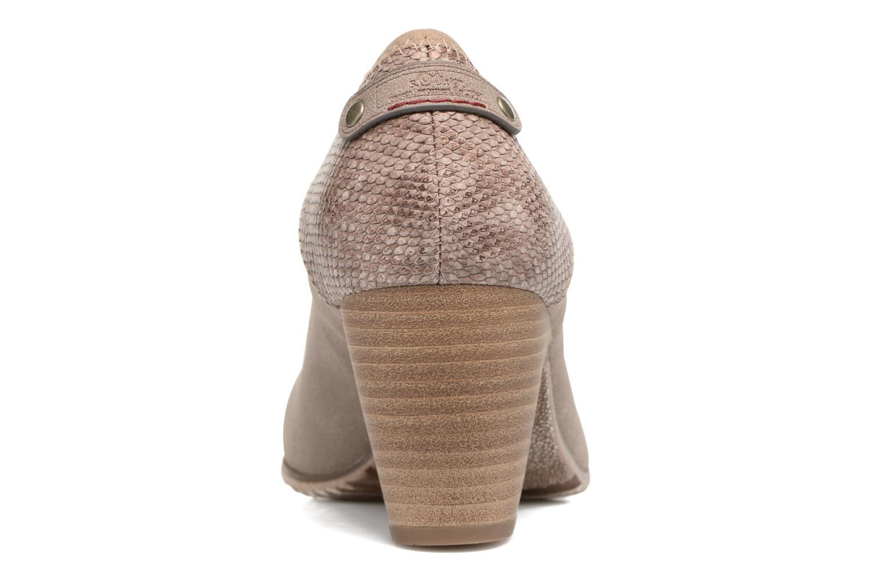 Zapatos de tacón S.Oliver Nyelle Marrón vista lateral derecha