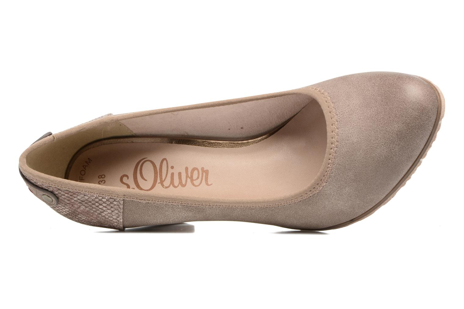 High heels S.Oliver Nyelle Brown view from the left