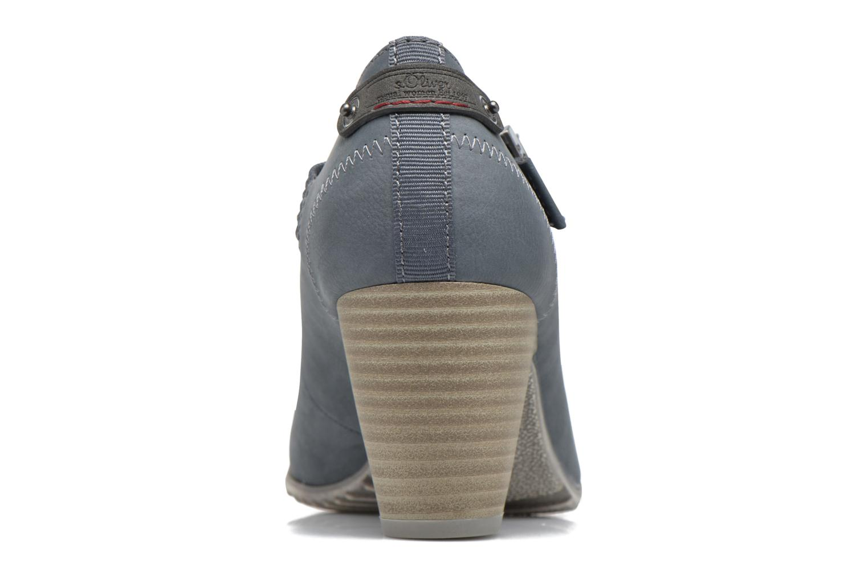 Zapatos de tacón S.Oliver Leby Azul vista lateral derecha