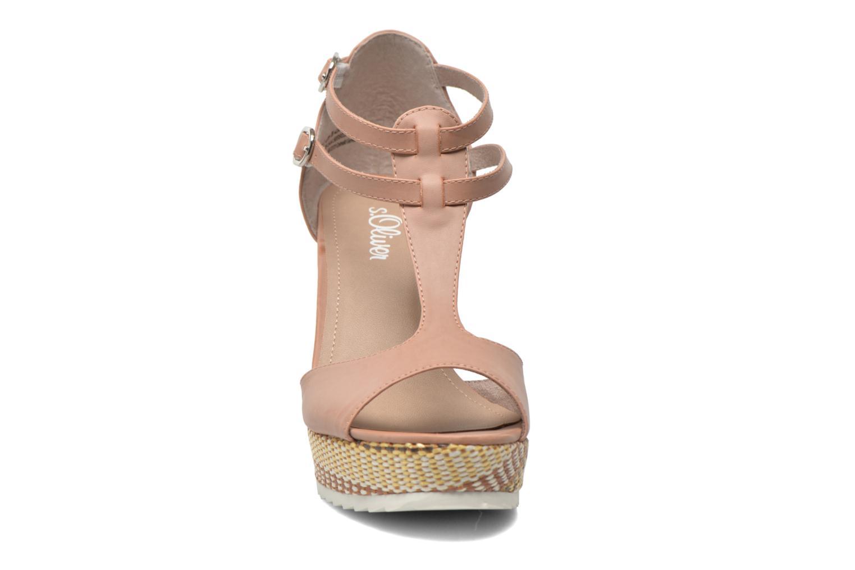 Sandales et nu-pieds S.Oliver Bomana Rose vue portées chaussures