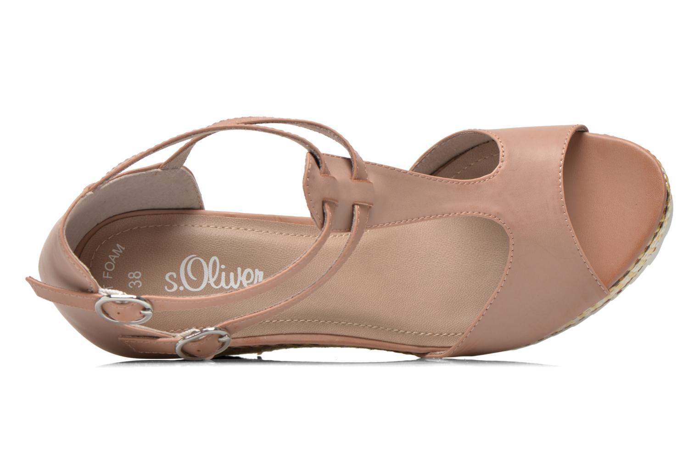 Sandales et nu-pieds S.Oliver Bomana Rose vue gauche