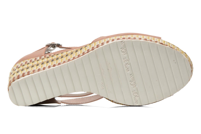 Sandales et nu-pieds S.Oliver Bomana Rose vue haut