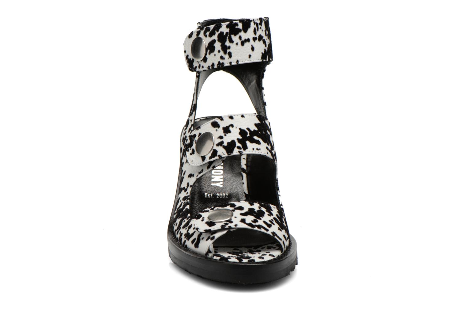 ISA METALLIC HEEL White multi