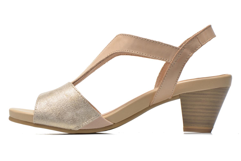 Sandales et nu-pieds Caprice Comoca Beige vue face