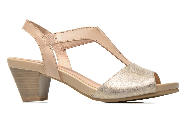 Sandales et nu-pieds Caprice Comoca Beige vue derrière
