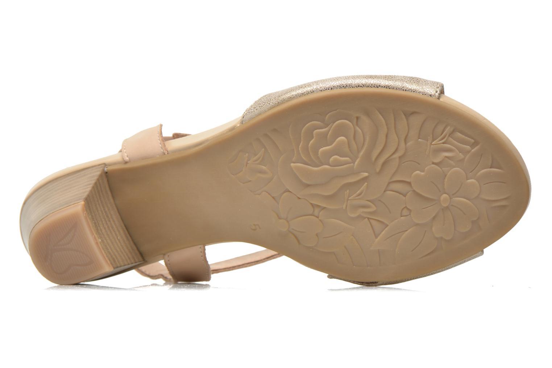 Sandales et nu-pieds Caprice Comoca Beige vue haut
